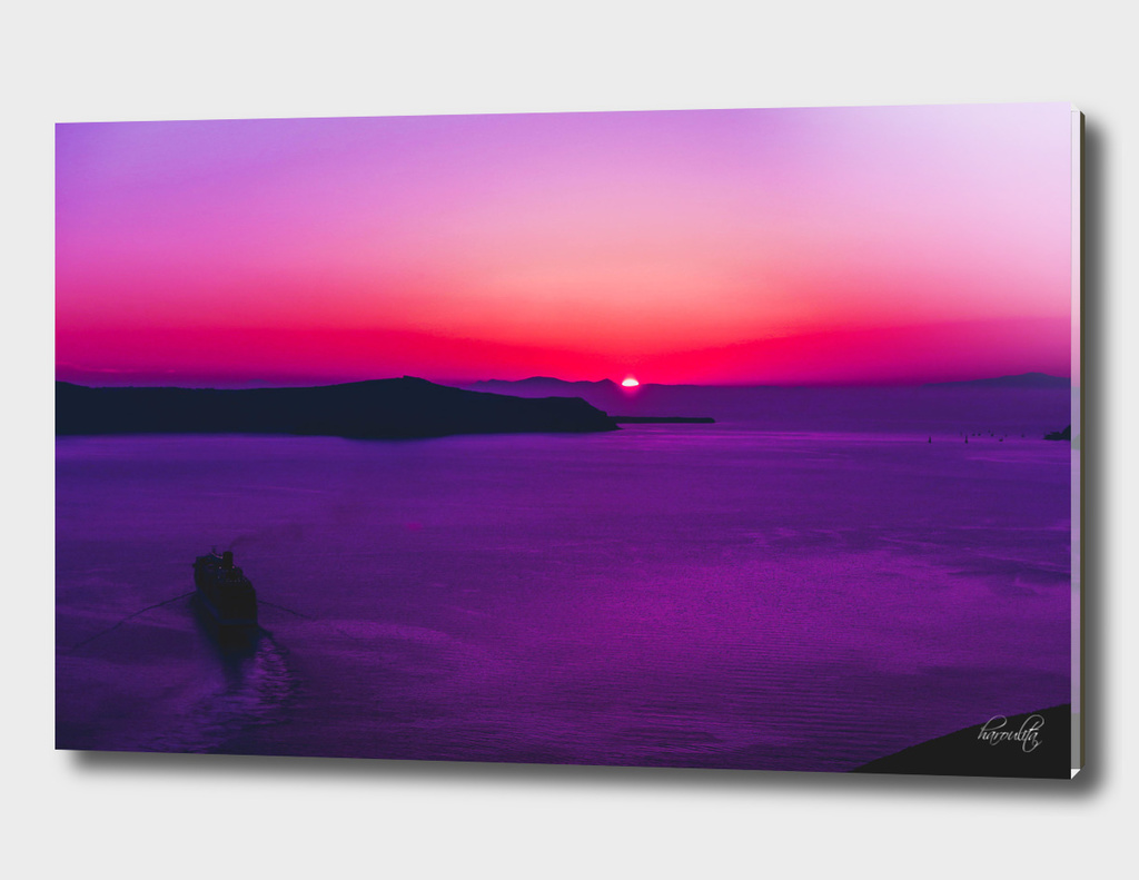 Purple Sunset in Oia