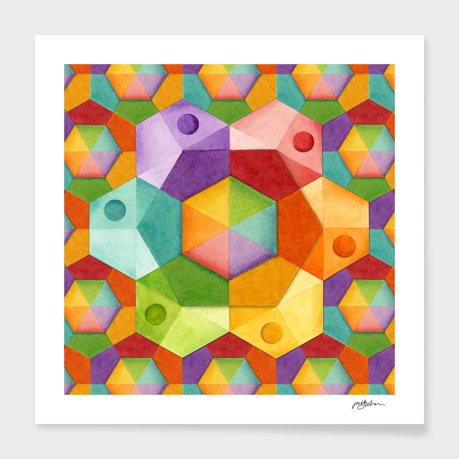 Hexagonal Rainbows
