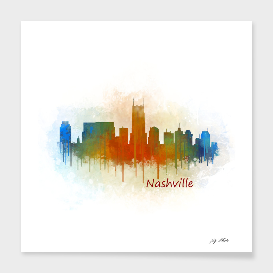 Nashville city Skyline in Tennessee v3