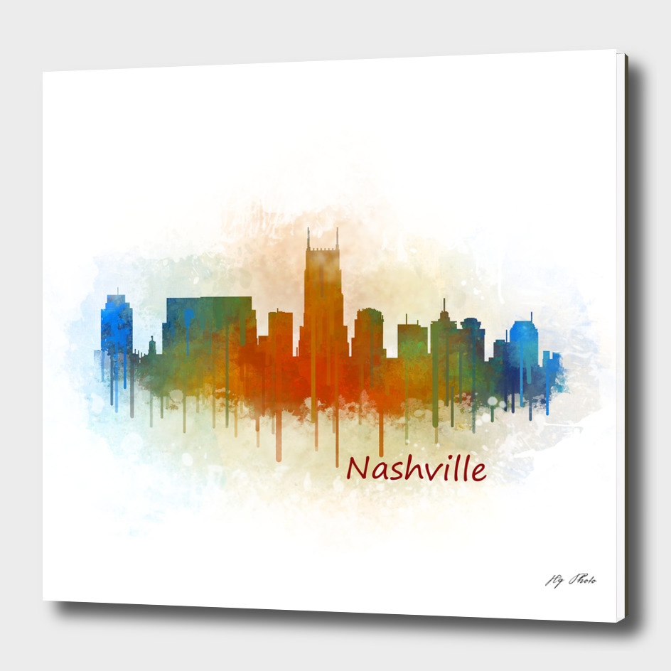 Nashville city Skyline in Tennessee v3