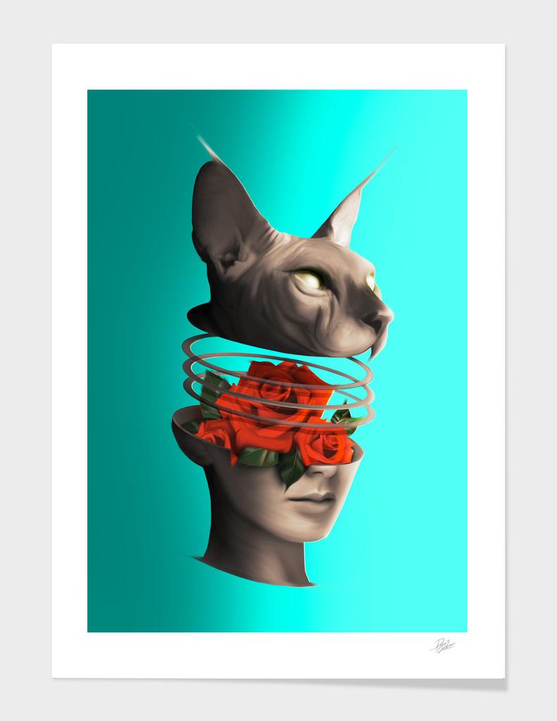 Cat&Girl&Rose