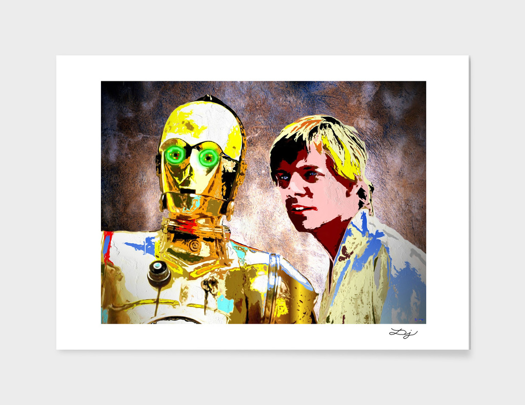 C3 PO     LUKE SKYWALKER   Star Wars