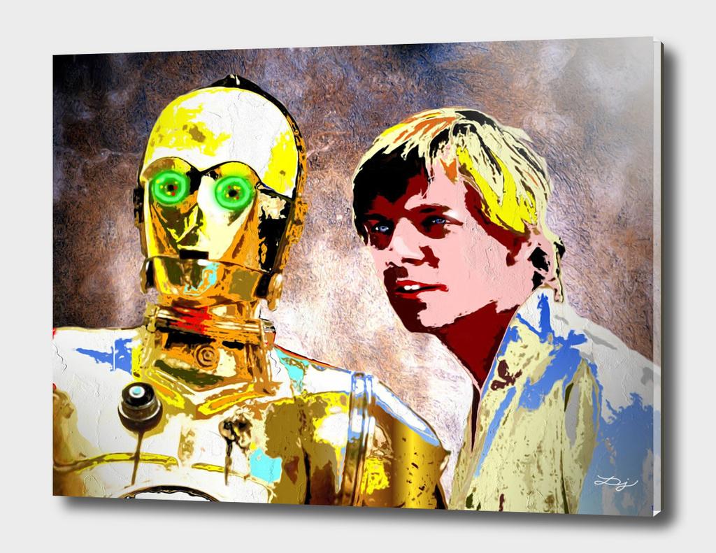 C3 PO     LUKE SKYWALKER   Star Wars