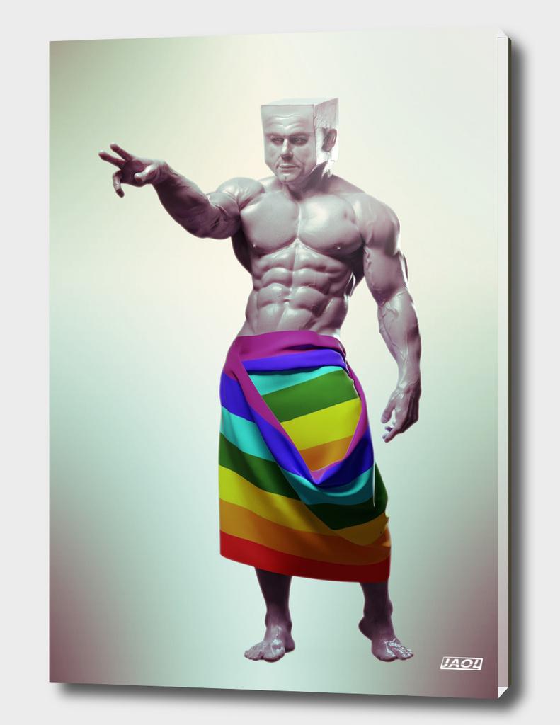 Bodybuilder CubeHead II