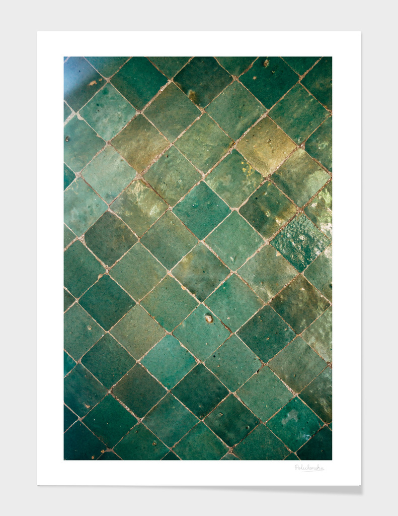 Green Tile Pattern