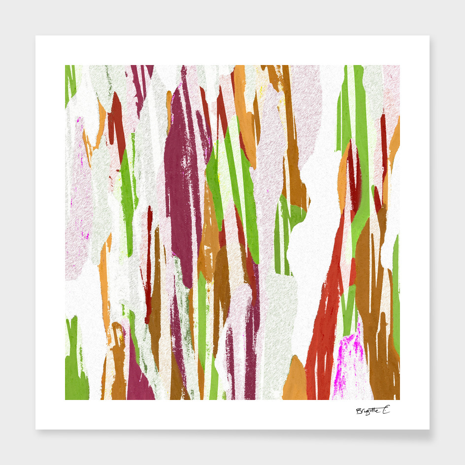 Abstract Rainbow Splash Design