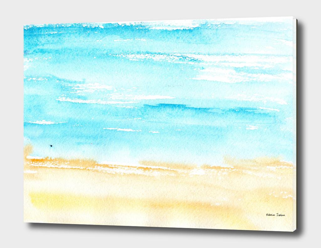 Sunny beach || watercolor