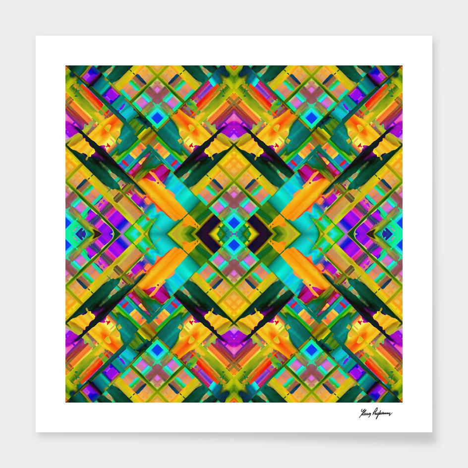 Colorful digital art splashing C22