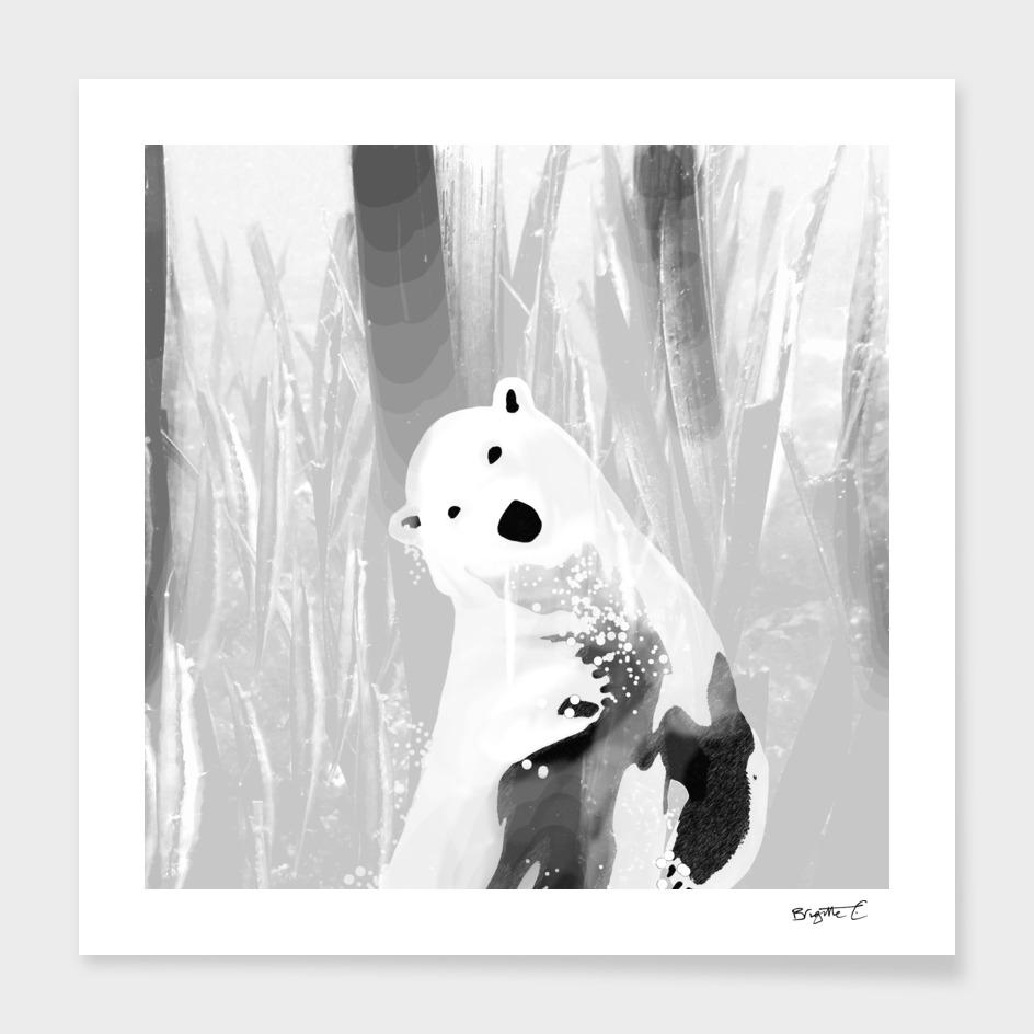 Unique Black and White Polar Bear Design