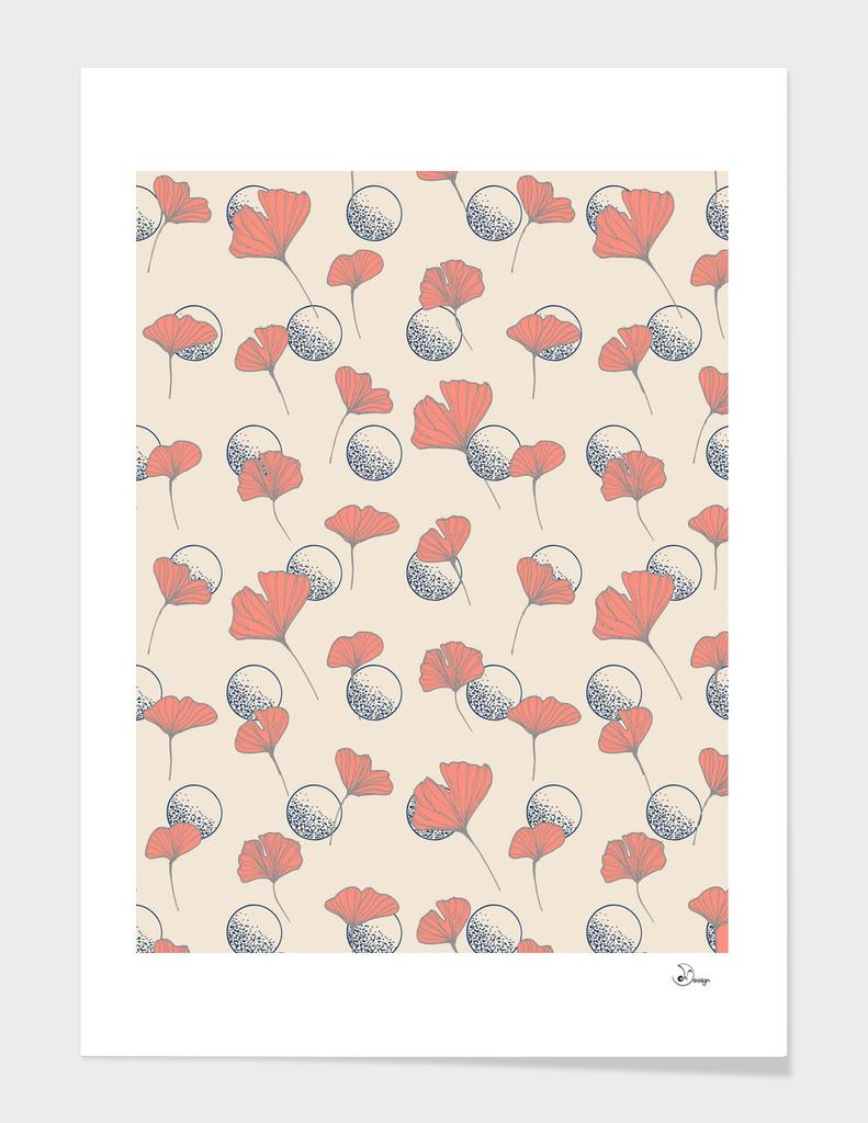 Delicate Ginkgo&Dots