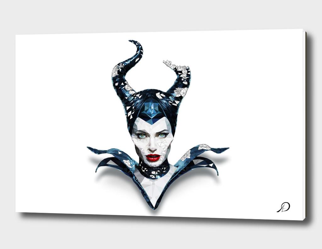 Lowpoly Maleficent Angelina Fantasy Fan art Illustration_8K