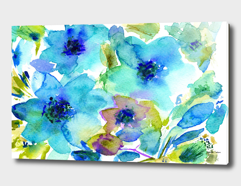 Bloom in blue #2 || watercolor