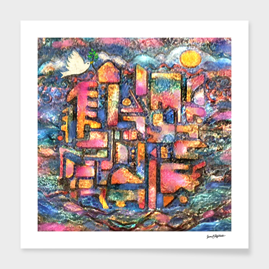Sea City Abstract