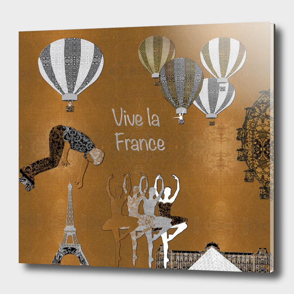 Vive La France (Gold Leaf Background)