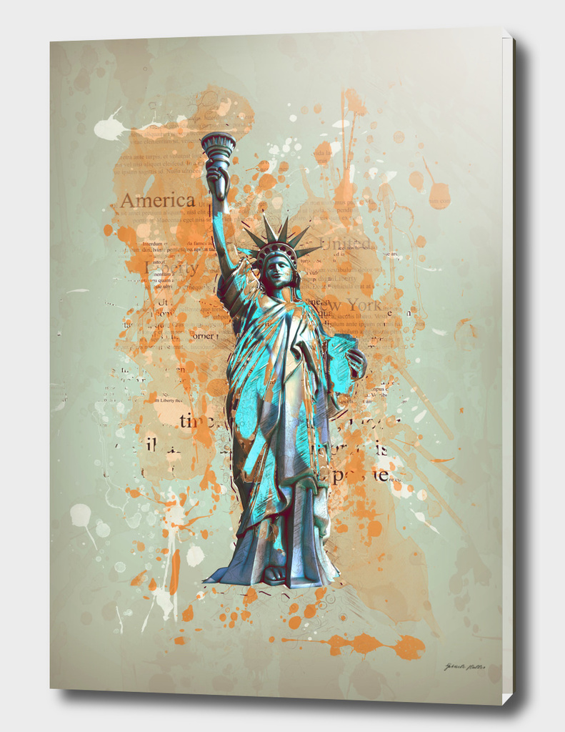 Liberty, USA - Retro / Vintage / Grunge Design