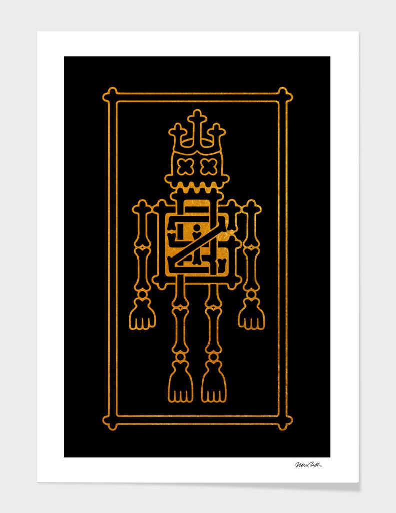 Griz Skeleton King (black)