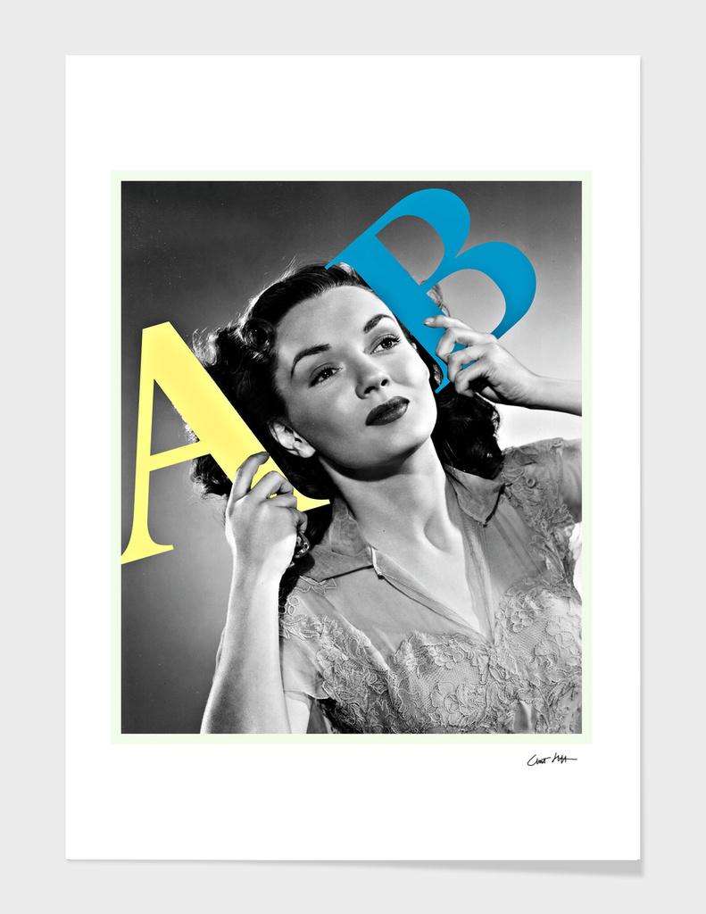typography lady