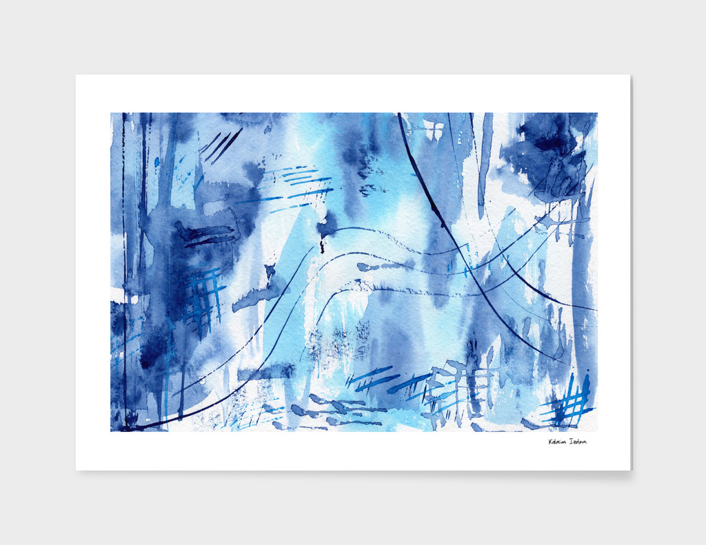 Blue vibes #4 || watercolor