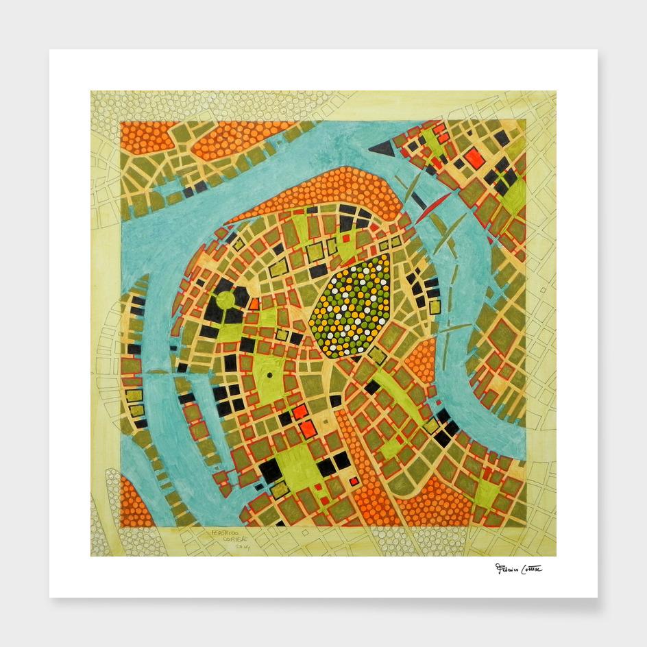 Imaginary map of Koblenz