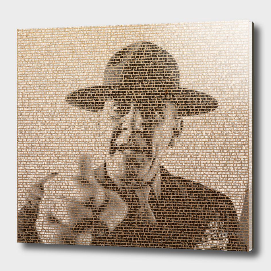 Full Metal Jacket's Script picturing Sergeant Hartman