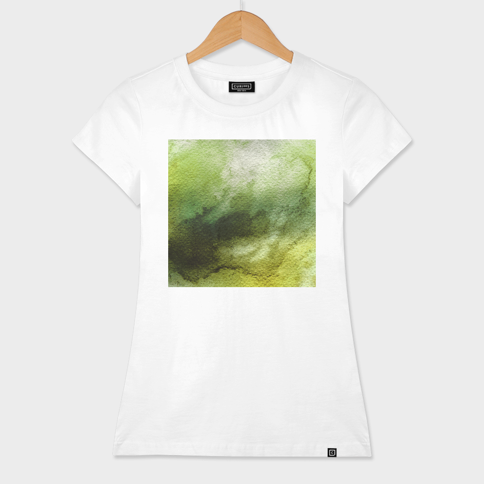 ABSTRACT GREENERY AQUARELL