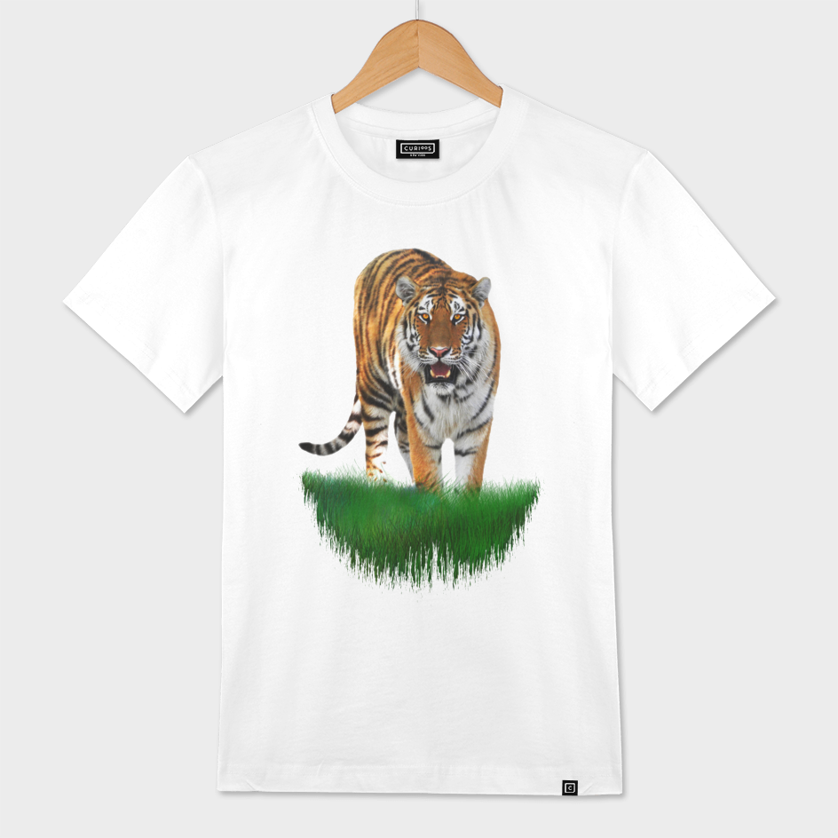 Wild Tiger on Green