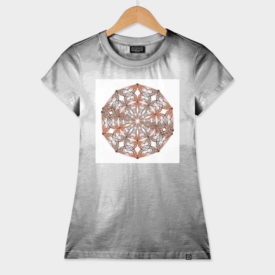 Mandala beige and orange