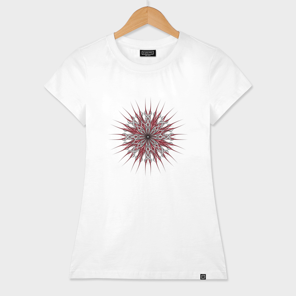 Mandala silver and red