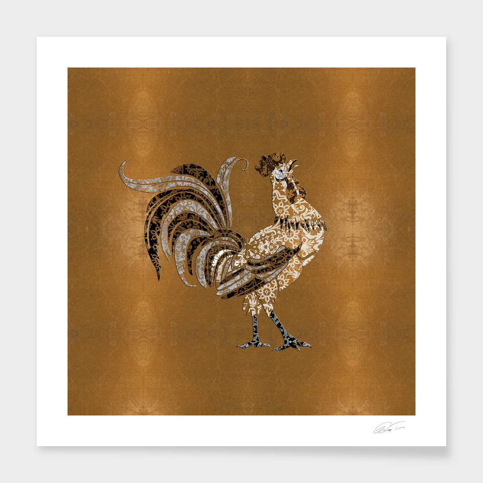 Le Coq Gaulois (The Gallic Rooster) Gold Leaf