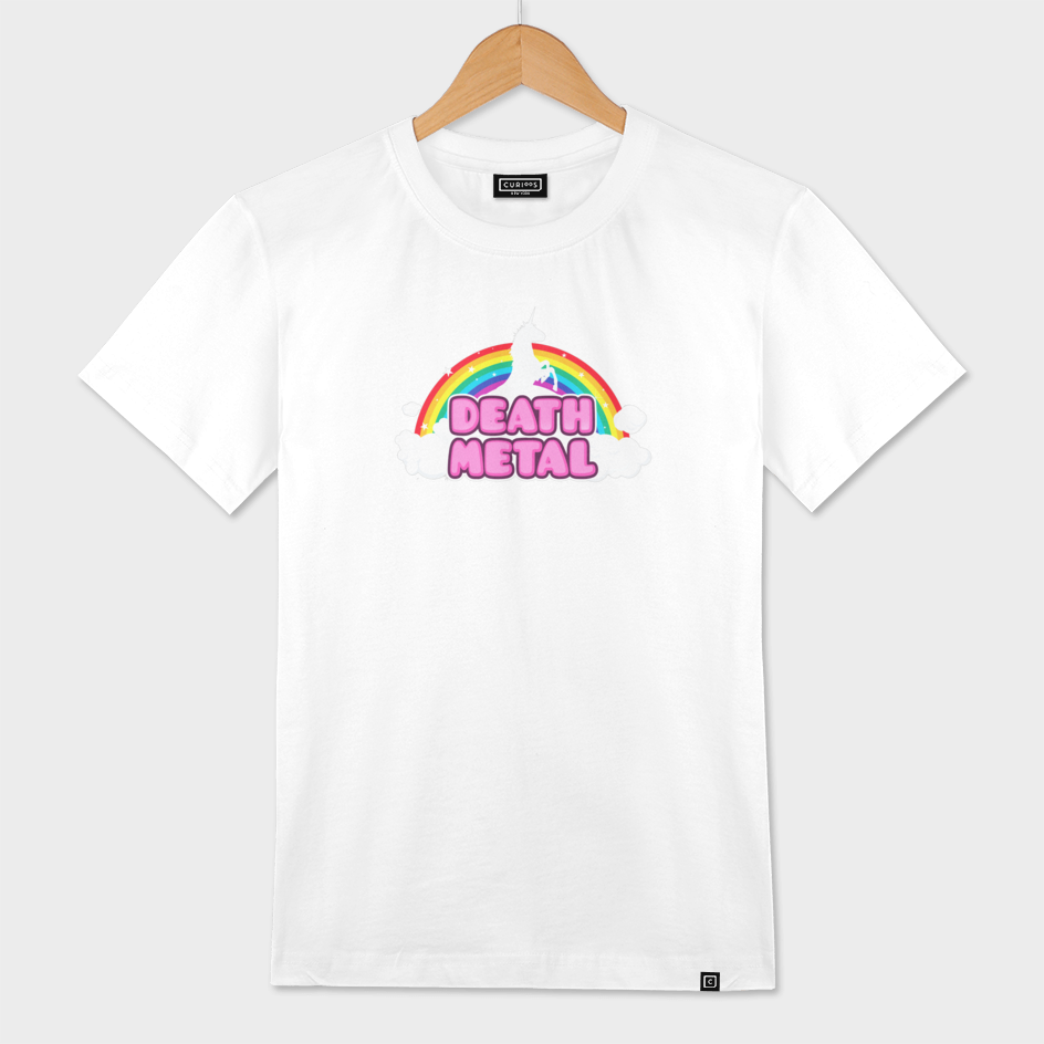 DEATH METAL! (Funny Unicorn / Rainbow Mosh Parody Design)