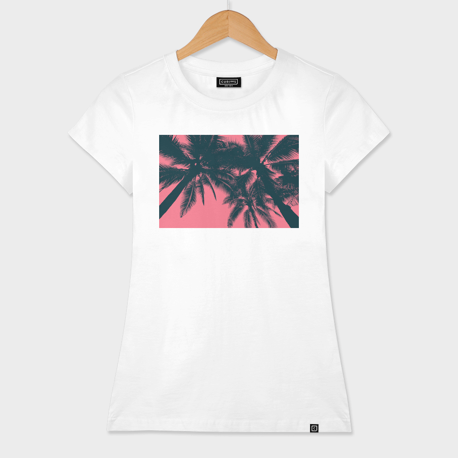 Palms in summer, pink