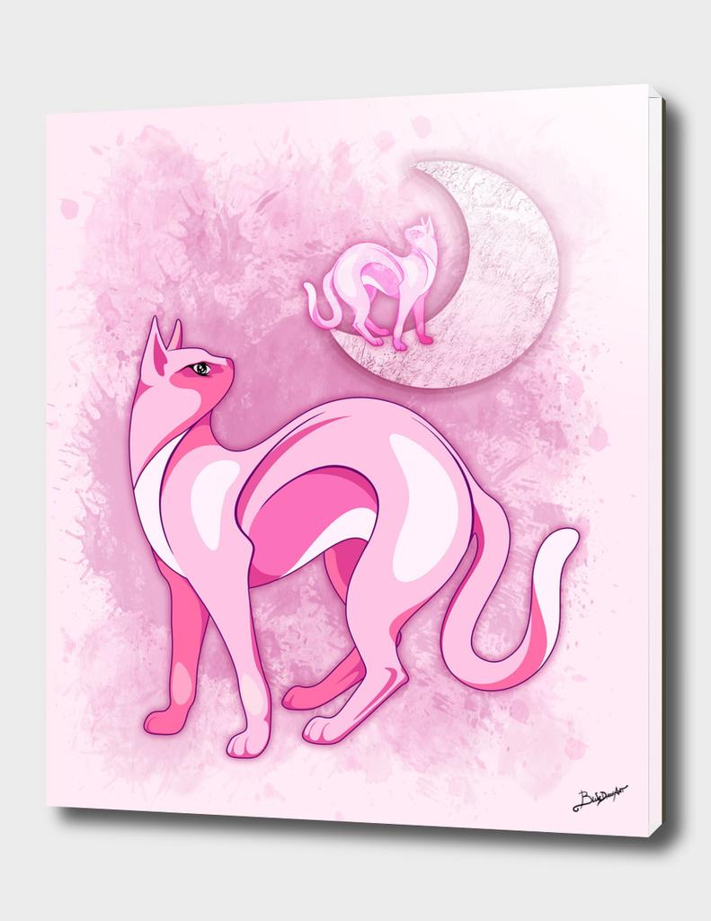 Pink Cat Mood