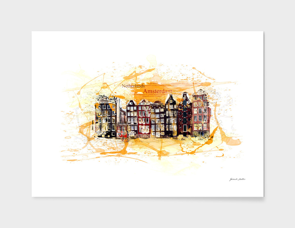 City of Amsterdam, Netherlands - Houses - Panorama