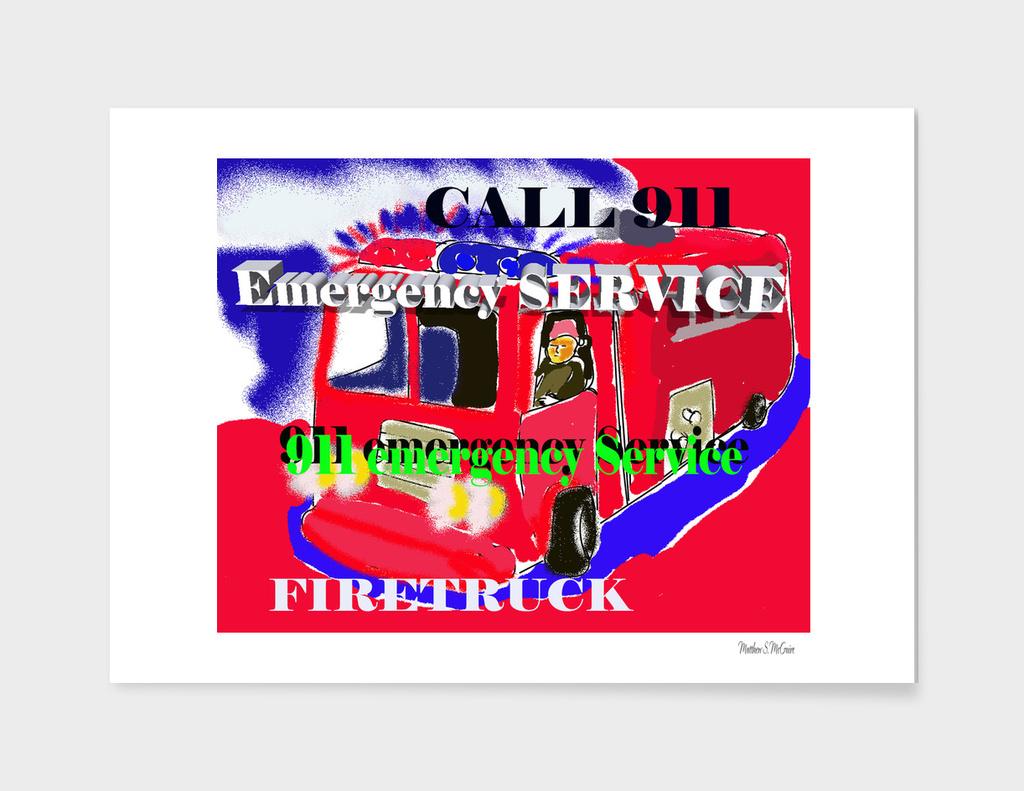 Firetruck Emergency Service