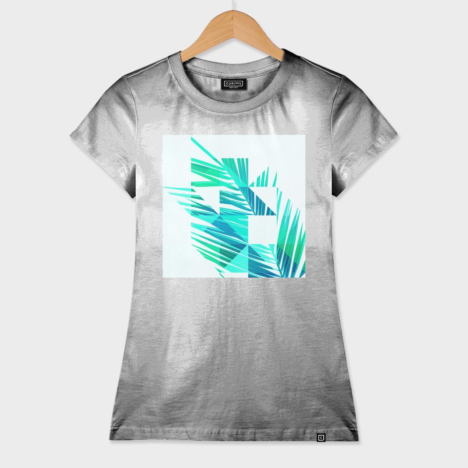 Geometric Palm leaves - Green