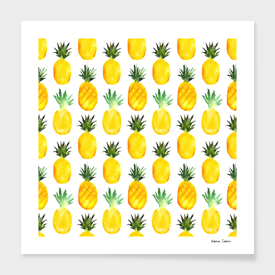 Pineapple love || watercolor