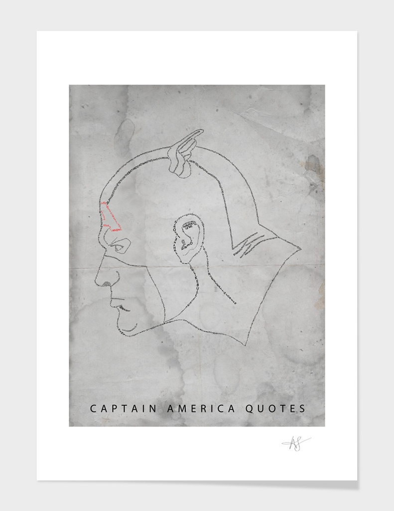 Captain America Quotes - Ltd Edition