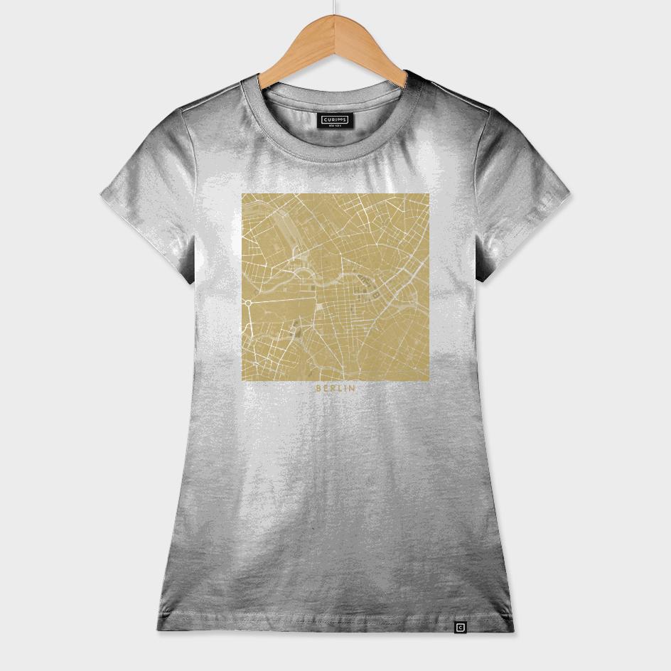 Berlin city map gold