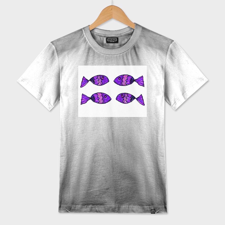 Jeweled Fishes IV Purple
