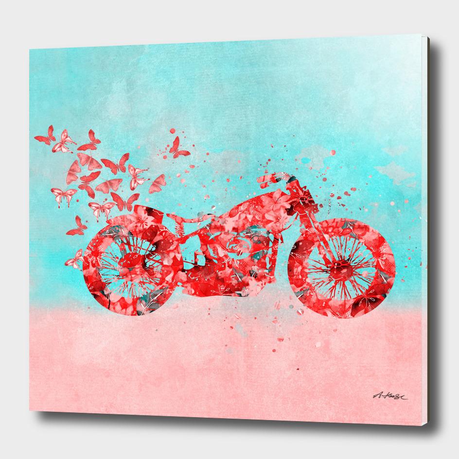 Happy Trip Floral Motorcycle