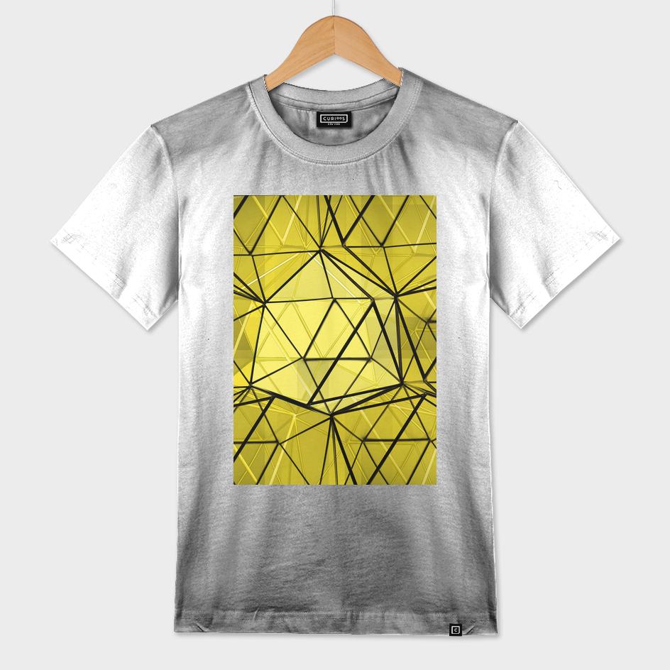 geometric black and yellow