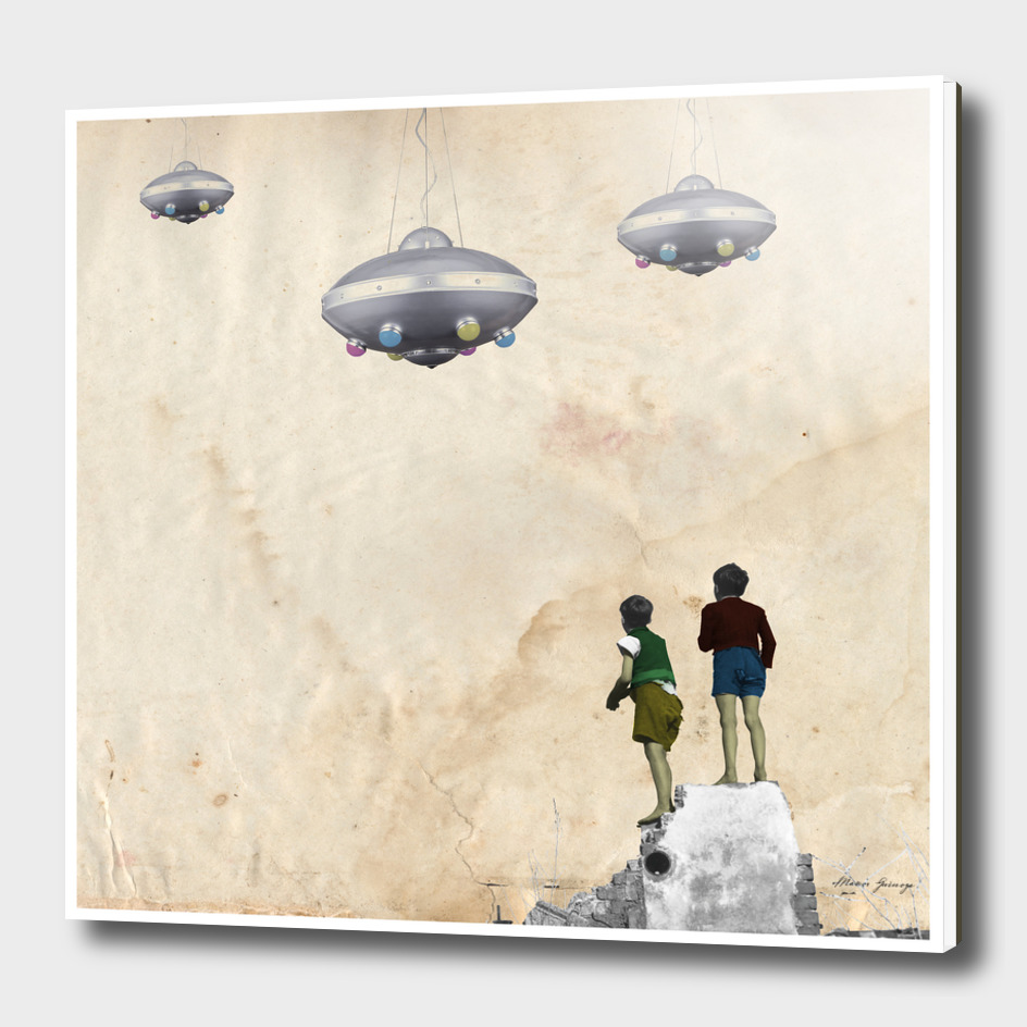 the boys and the UFO invasion