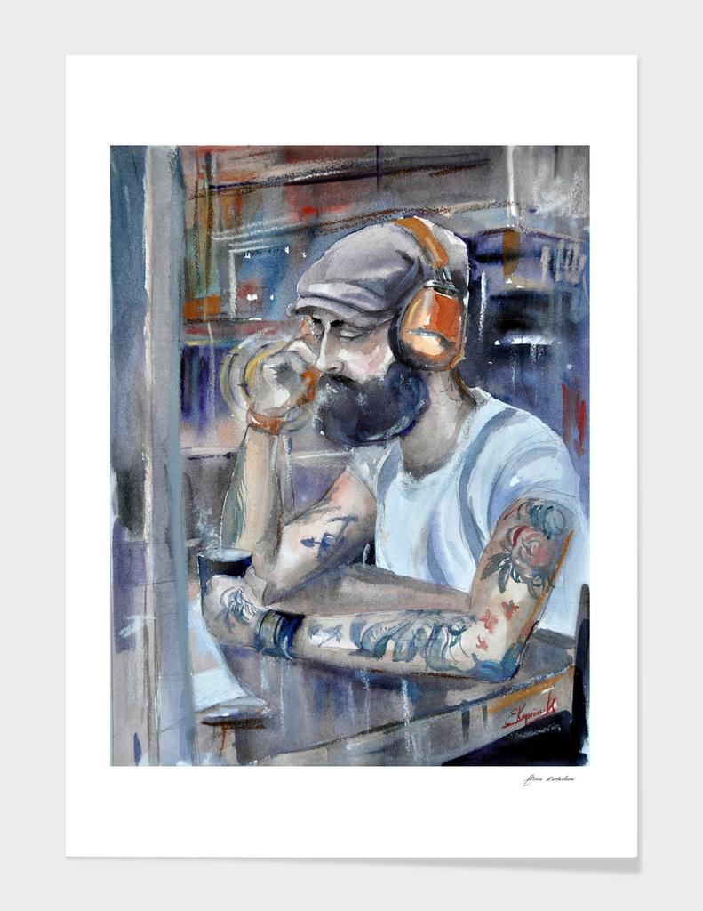 DJ on headphones