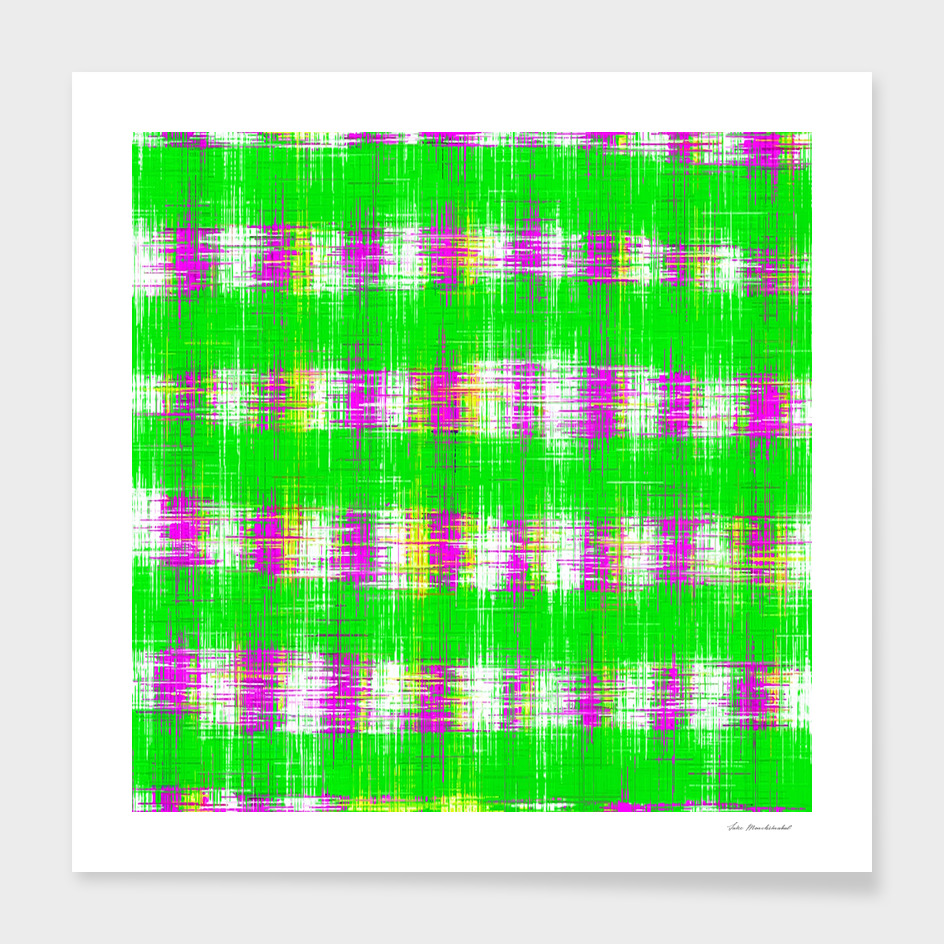 plaid pattern abstract texture in green pink white