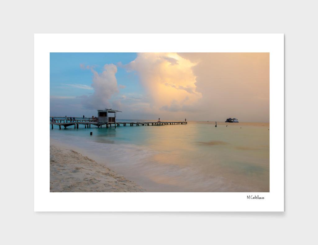 Sunset Isla Mujeres. Mexico