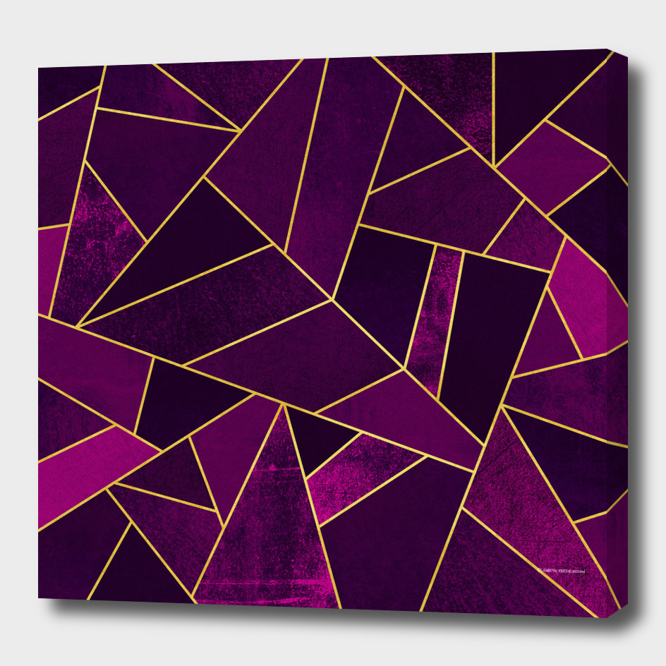 Purple Stone / Gold Lines