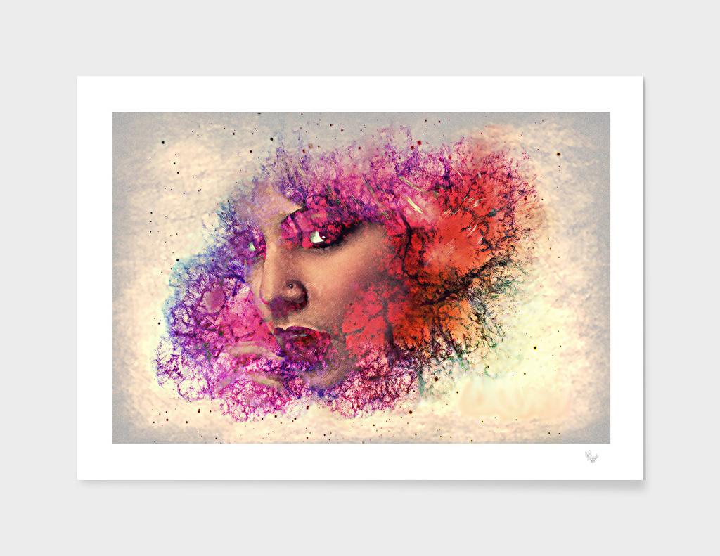 studio portrait woman face