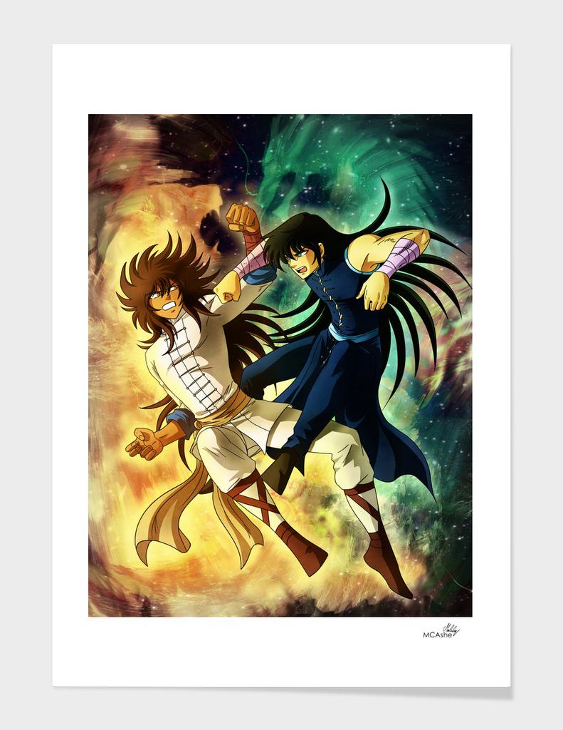 Okko vs Shiryu Artwork