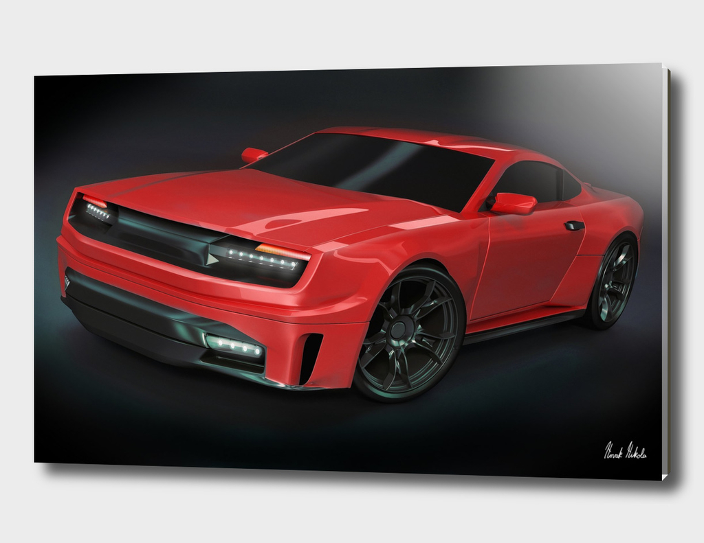 Stylish muscle car concept