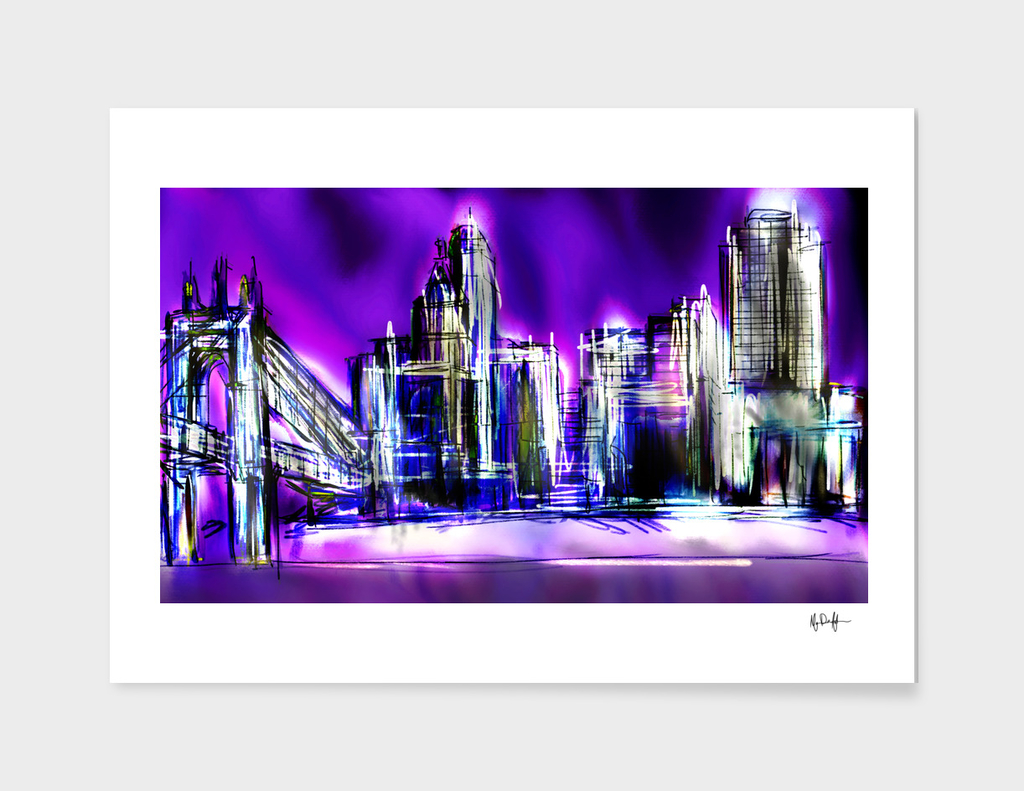 Purple Cincinnati Skyline
